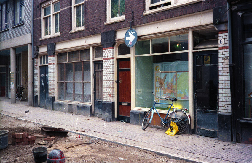 etalage Koningsstraat 6 in december 1985